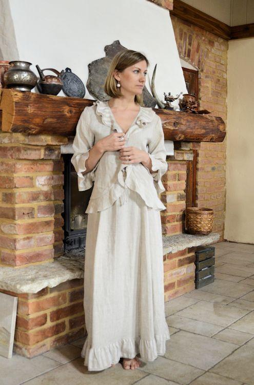 Linen skirt and jacket