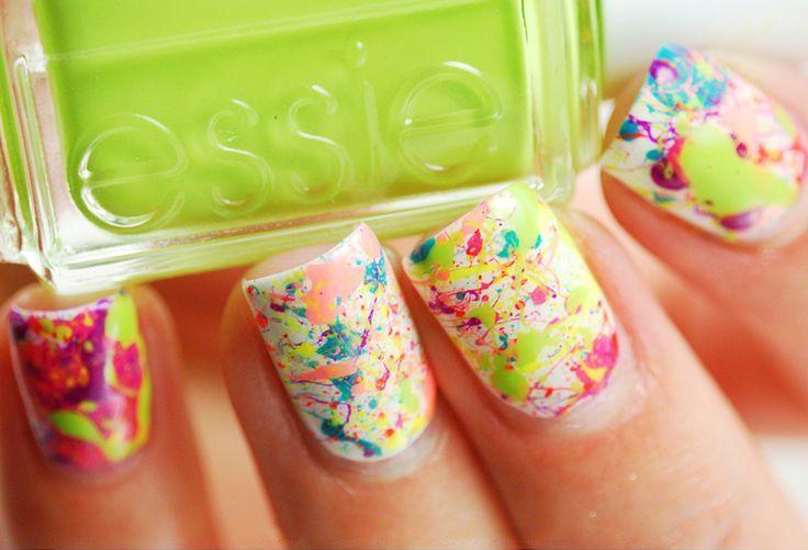 Splatters Nail Art, diseño de uñas salpicadas - http://xn--decorandouas-jhb.net/splatters-nail-art-diseno-de-unas-salpicadas/