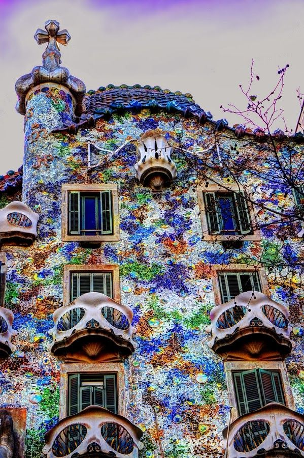 Casa Batlló Barcelona Spain - this place is the most wonderful place to visit..if you get a chance. GO.                                                                                                                                                                                 More