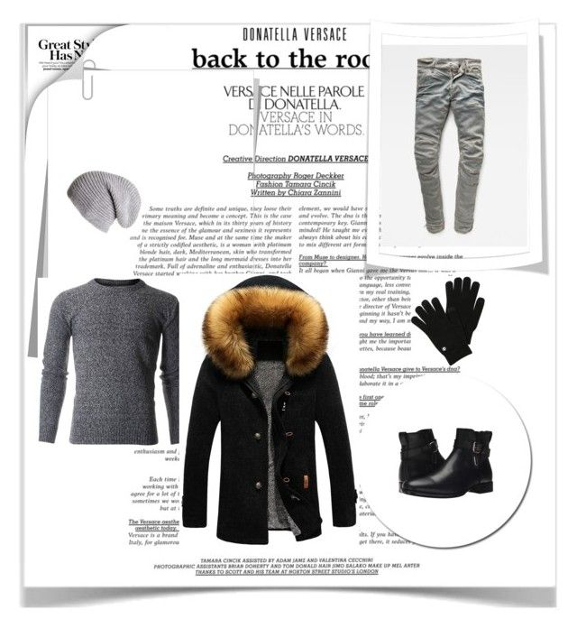 """""""Men's Fashion - Winter style"""" by elmir96 ❤ liked on Polyvore featuring G-Star Raw, Black, Aquatalia by Marvin K., Timberland, men's fashion and menswear"""