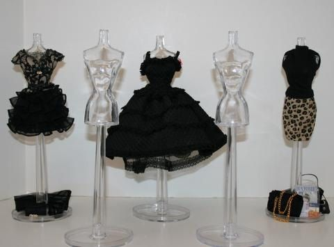 Crystal Clear FASHION MANNEQUIN - To Display Barbie's Size Fashions. $5.95, via Etsy.