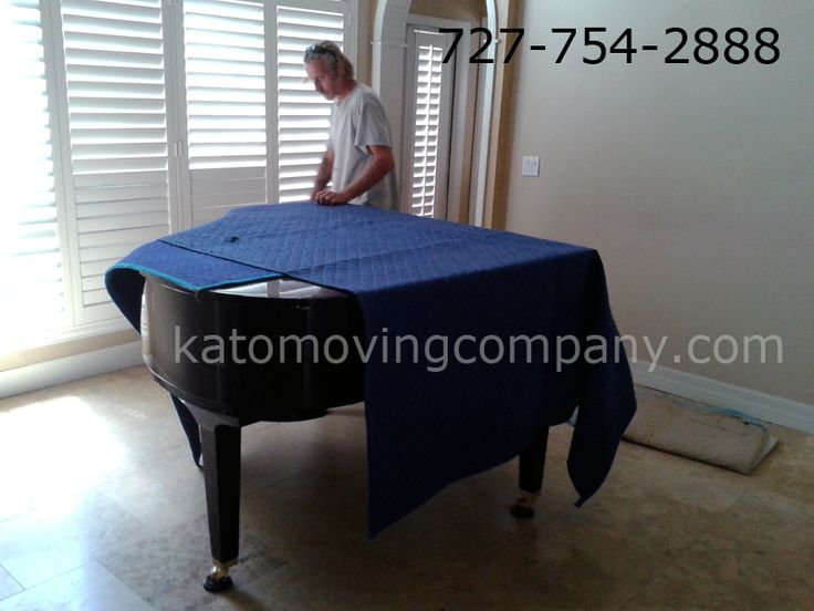 Moving A Baby Grand Piano: Cover With Pads. The Piano Can Now Be Wrapped