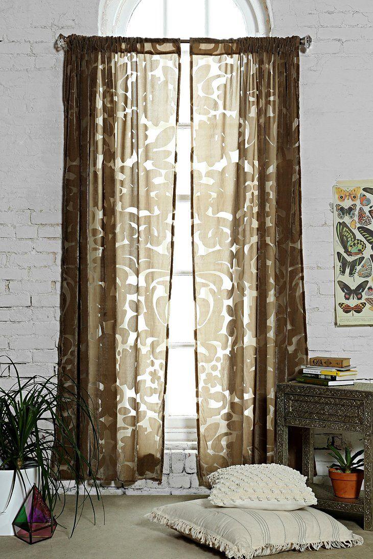 Curtains Ideas damask curtain : Magical Thinking Ribbon Damask Curtain | Ideas | Living Room. | Pinte ...
