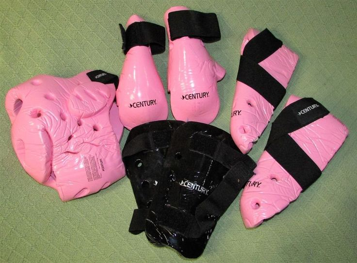 6 Piece Martial Arts Sparring Gear PINK Karate Tae Kwon Do Youth Small Adult Set #CENTURY