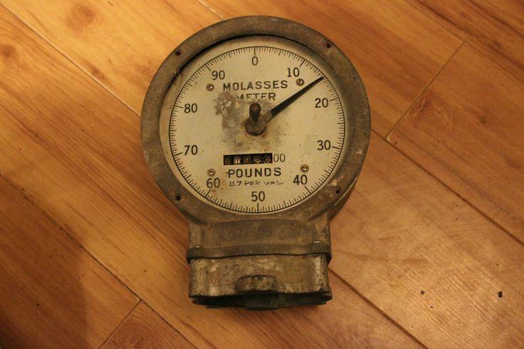 Vintage molasses meter dial gauge buffalo meter co for steampunk use gauges vintage and - Steampunk pressure gauge ...