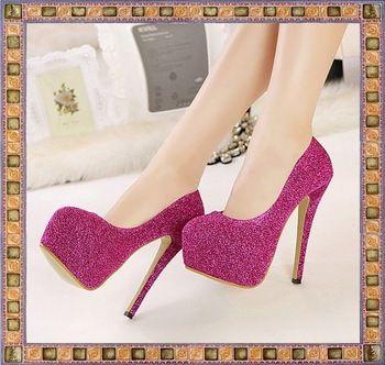 primavera e outono preto azul rosa prata fina moda sexy salto alto sapatos de festa de casamento mulher 2014 senhoras bombas plataforma a623