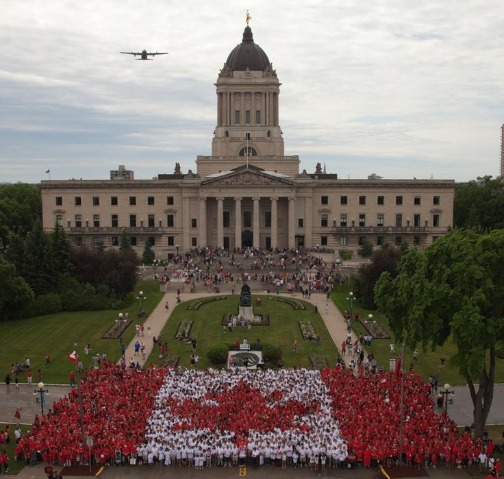 2014 Event Information It's Canada Day's greatest photo op! Join thousands of Winnipeggers by wearing red and white to form a living Canadian flag! This year - with the spectacular Canadian Museum ...