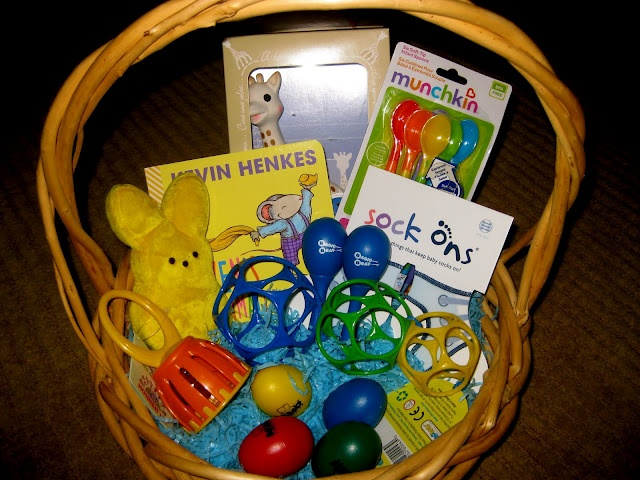 Best 25 baby easter basket ideas on pinterest easter baskets infant easter basket ideas if i decide to do one lol negle