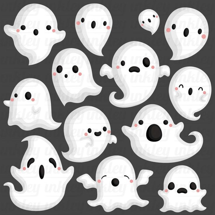 Halloween Ghost Clipart Cute Ghost Clip Art Holiday Event Free Svg On Request Halloween Clips Halloween Illustration Cute Ghost