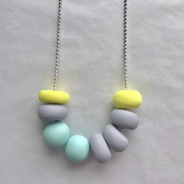 A personal favourite from my Etsy shop https://www.etsy.com/au/listing/501152908/pretty-pastel  #polymerclay #jewellery #hamdemade #handmadejewellery #etsy #fashion #necklace #beadnecklace #pastel
