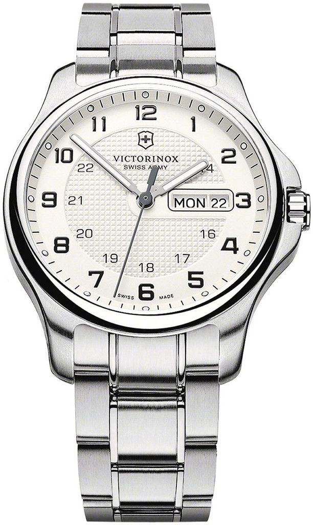 Victorinox Swiss Army Watch Officers Day Date #bezel-fixed #bracelet-strap-steel #brand-victorinox-swiss-army #case-depth-9-5mm #case-material-steel #case-width-40mm #classic #date-yes #day-yes #delivery-timescale-call-us #dial-colour-silver #gender-mens #movement-quartz-battery #official-stockist-for-victorinox-swiss-army-watches #packaging-victorinox-swiss-army-watch-packaging #style-dress #subcat-officers #supplier-model-no-241551-1…