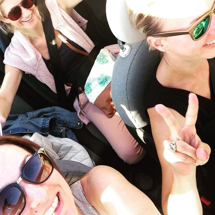 Girls just wanna have fun. Road tripping in France. Spotted with the Yemoja Luminous Sea Star bag!