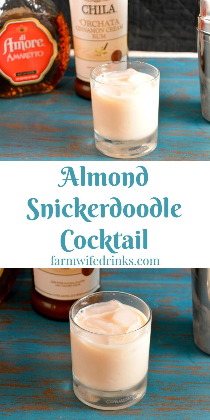 This sweet and creamy almond snickerdoodle cocktail combine the cinnamon flavor from orchata with almond flavor from amaretto for a perfect cocktail.