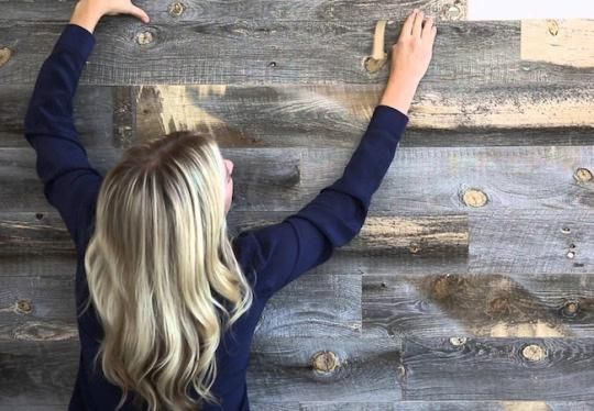—Donna Boyle Schwartz Get the look of the beautiful wood-paneled wall of your dreams without all the labor and costs involved with planking it from scratch.  Stikwood planks are thin, flexible, adhesive-backed slices of real wood.