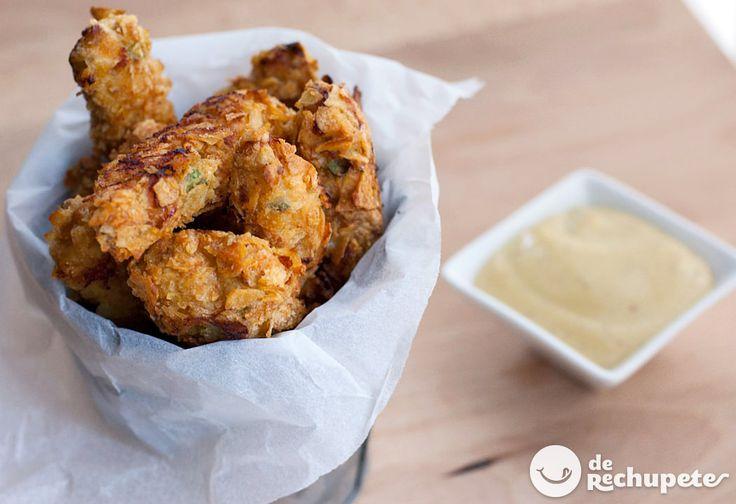Fingers o tiras crujientes de pollo con salsa Cesar - Recetasderechupete.com