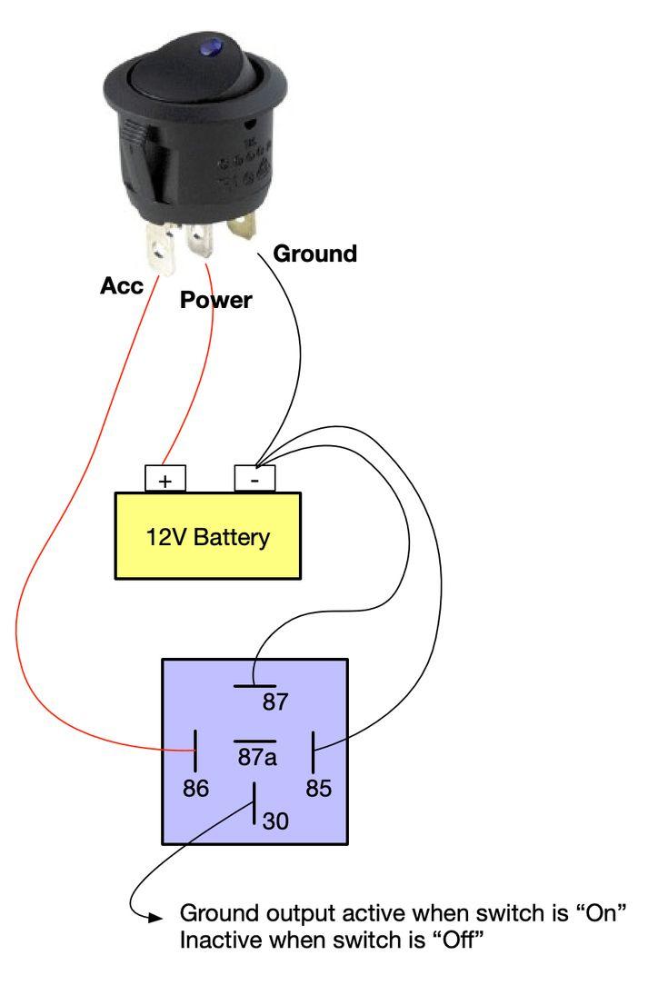 On  Off Switch  U0026 Led Rocker Switch Wiring Diagrams