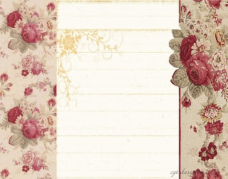 Shabby Lane Shops Free Blog Backgrounds: Red Roses by Debbie