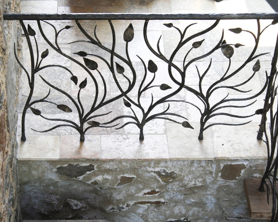 Hand forged Iron handrail