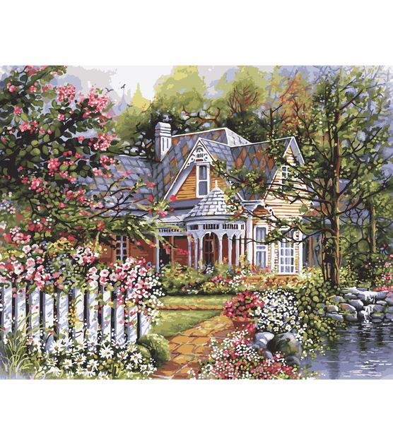 """Plaid Paint By Number Kit 16""""x20"""" Victorian Garden"""