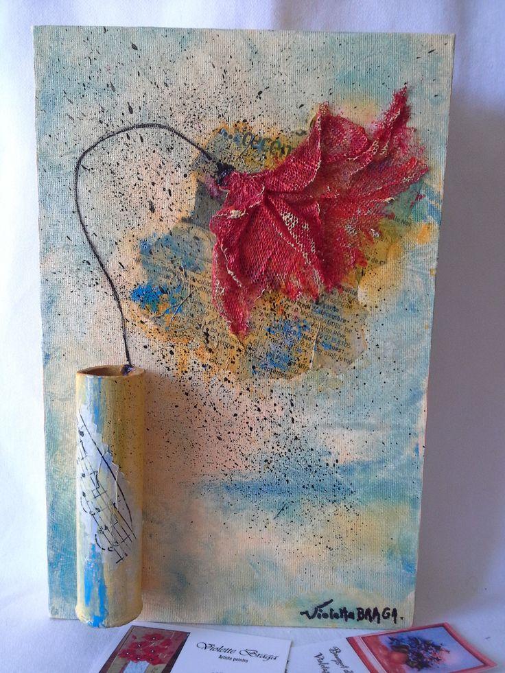 Amour d'un coquelicot des champs * : Peintures par violetta-braga