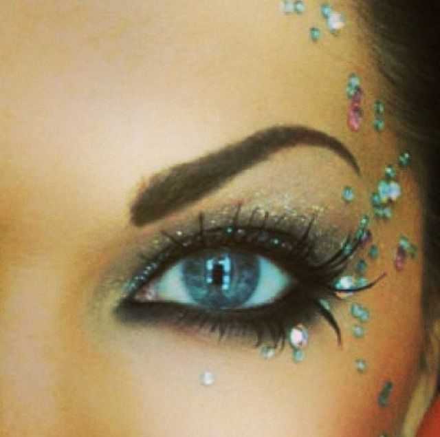 Colorguard makeup. You know it's going to happen!!!