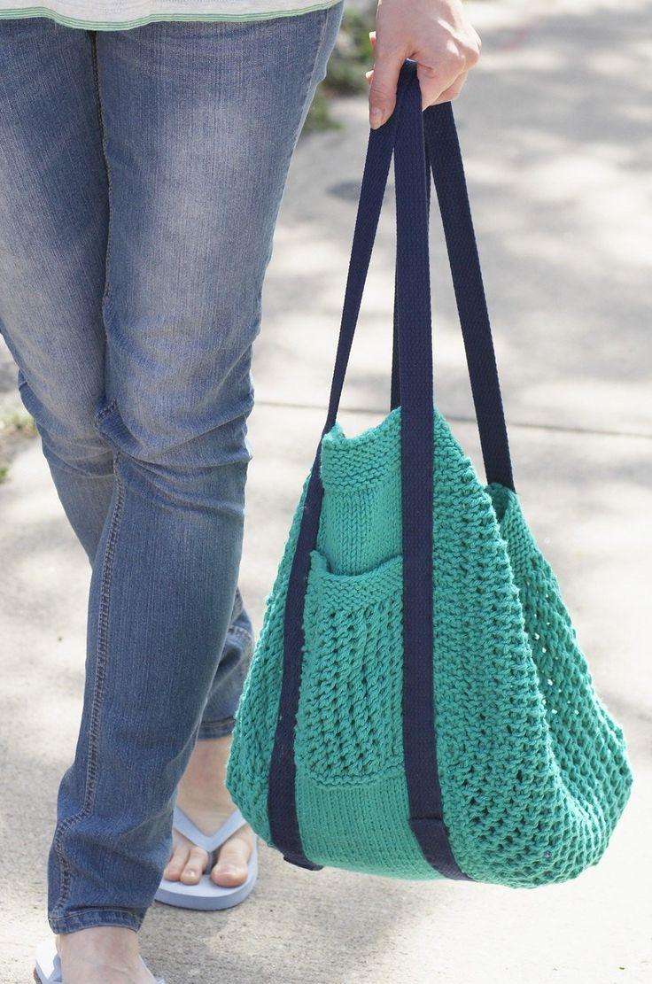 Weekender Bag Knitting Pattern : Se Pinterests topplista med de 25+ basta ideerna om Knit bag