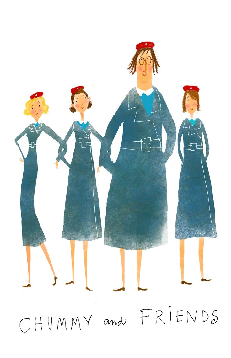 Jana Christy | Call The Midwife mid-century style illustration