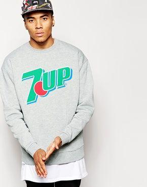 ASOS Oversized Sweatshirt With 7UP Print