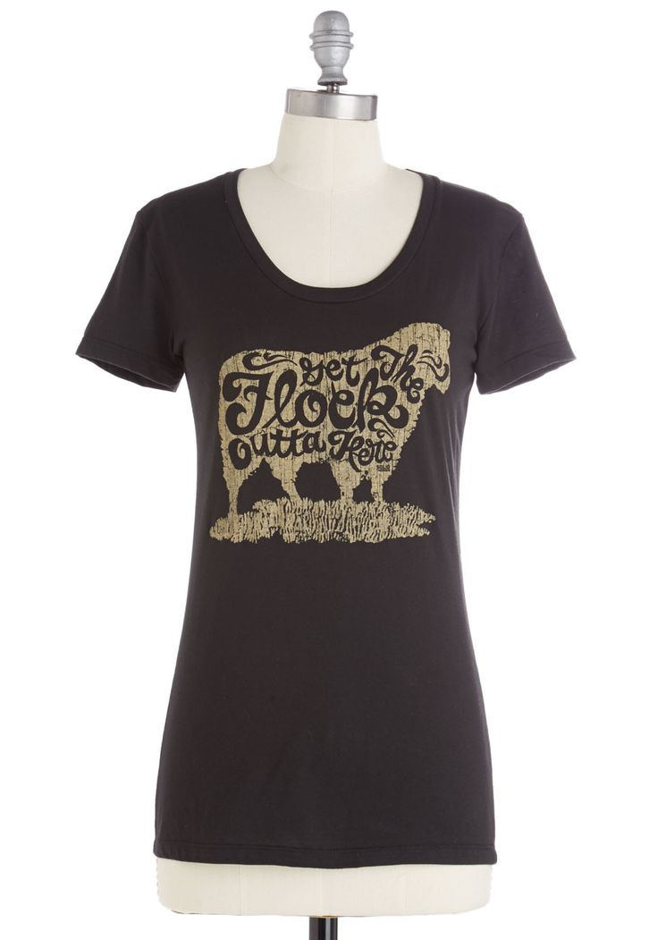 Have Ewe Herd? Tee. Flaunt your 'ewe'-nique way with words in this quirky graphic tee. #black #modcloth
