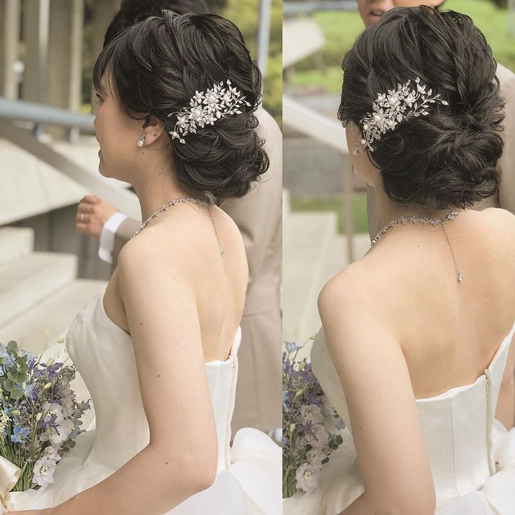 . . wedding💐 . .  #ブライダル #bridal #ヘアスタイル #ヘアセッ…