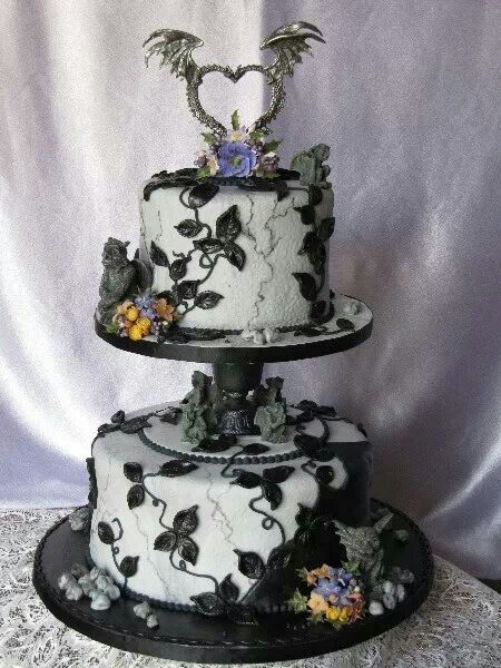 Awesome dragon wedding cake