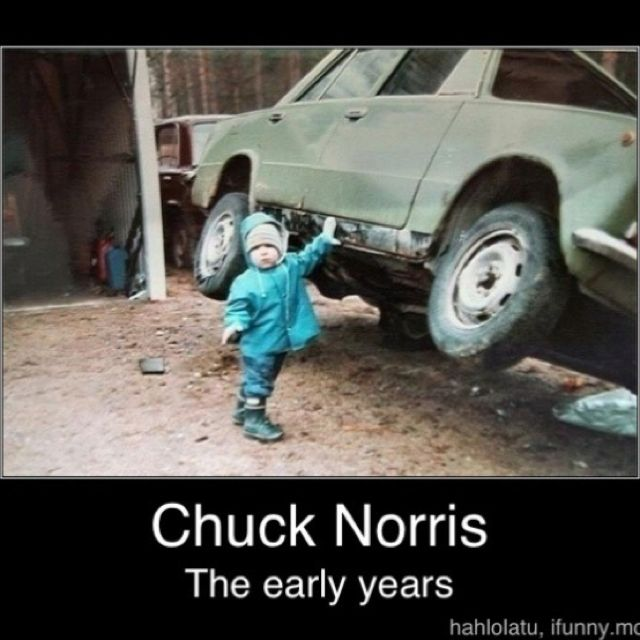 There used to be a street named after Chuck Norris, but it was changed because nobody crosses Chuck Norris and lives.