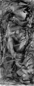Abelardo morell - 2015_Vertical Landscape-Black Ink on Glass Cliche Verre