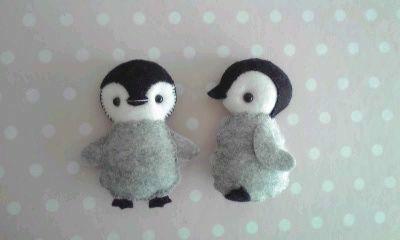 シートフェルトのマスコット~皇帝ペンギン~