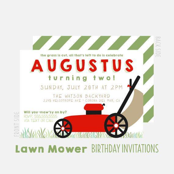 Lawn Mower Party Invitation