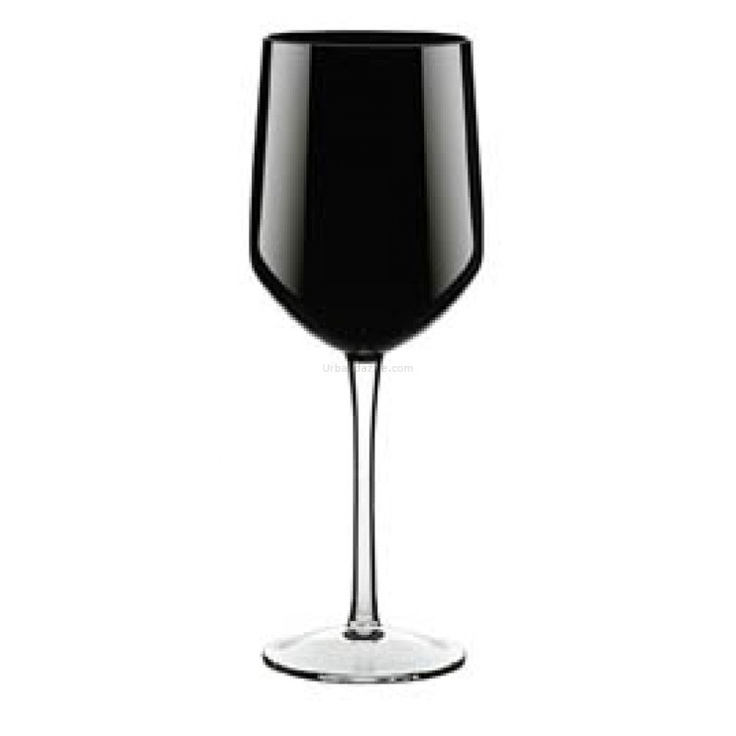 Ego Alter  Abc Wine Glass Black    Capturing the gaze before taking over the senses, the Abc Wine Glass in Black makes for a bewitching addition to any evening.