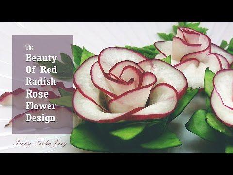 Das beste Gemüse für Blumen-Design - Roter Rettich & Gurke - YouTube