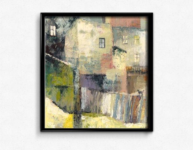 Moje Podwórze - sygnowany wydruk obrazu - Milena-Gawlik - Wydruki cyfrowe