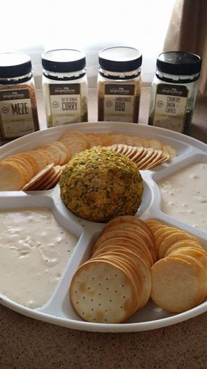 CHEESE BALL & MIXED DIP PLATTER | THE GREAT ENTERTAINER - 1 block of Philly Cheese, 1/2 cup of Parmesan Cheese, 1/2 Mozzarella Cheese & 1 tablespoon of YIAH Country Onion & Chive Dip Mix and roll into a ball - then roll ball in Bay of Bengal Curry Dip mix. All dip mixes can be made with 1 cup Sour Cream & 1 tablespoon of Mayo with 1 tablespoon of YIAH Dip Mix of your choice. Dip mixes are also great with Greek Yoghurt, Sweet potato, Avocado or other mashed vegetables.