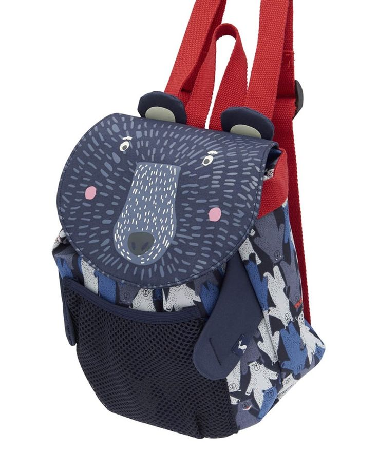 Your little one is sure to love using this Joules Buddie Bear Backpack whether it's a school or a play day! Complete with adjustable shoulder straps, this Joules backpack will grow with them, and has ample room for all of their little bits and pieces. Ideal for any animal lover, this Bear design Joules bag will make a great gift.