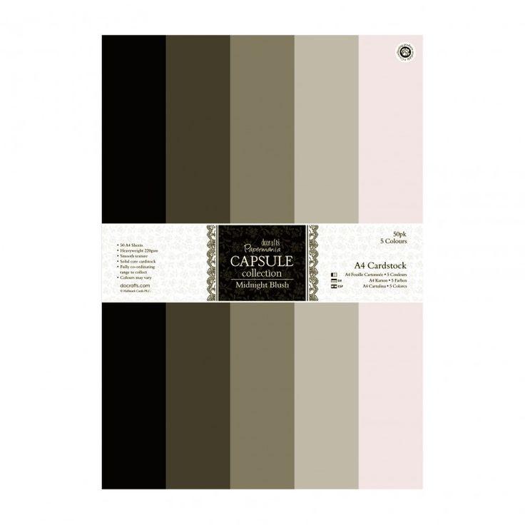 Sada kartónov A4 / Capsule - Midnight Blush / 50 ks Novinky obchod s kreatívnym materiálom
