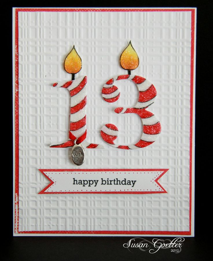 4/22/2012; Susan Goetter at 'keeping in touch' blog; great card!could be adapted for any age number.