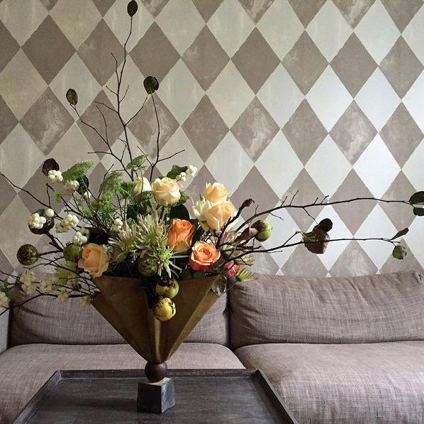 arrangement in Tage Andersen's folded vase.