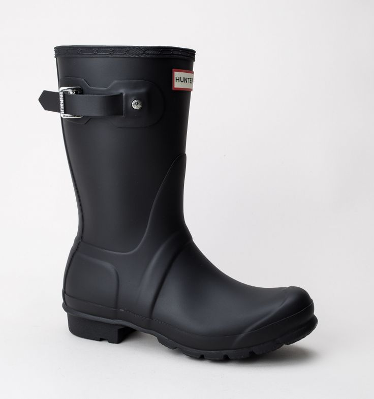 Hunter Women Original Short Boots Black