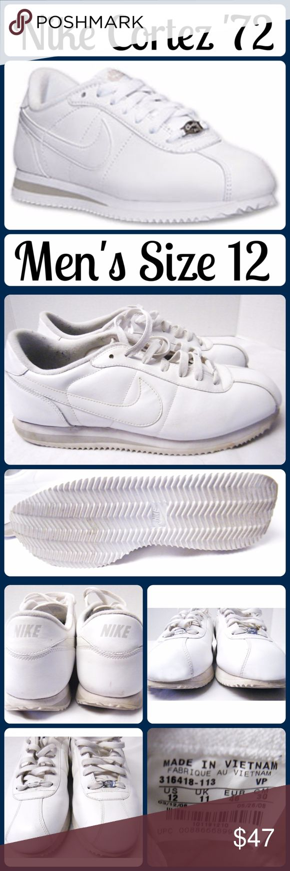 Men's Sz 12 Nike Cortez '72 Tennis Shoes Excellent New Like Condition! Sz 12 Men, worn 1 time - less than 15k steps (according to a fitbit) .... From a smoke-free, dog friendly home, No trades and no off-site transactions! Nike Shoes Athletic Shoes
