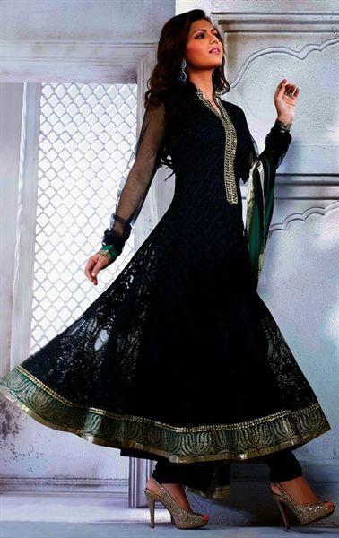 Picture of Fashionable Blue Designer Salwar Suit