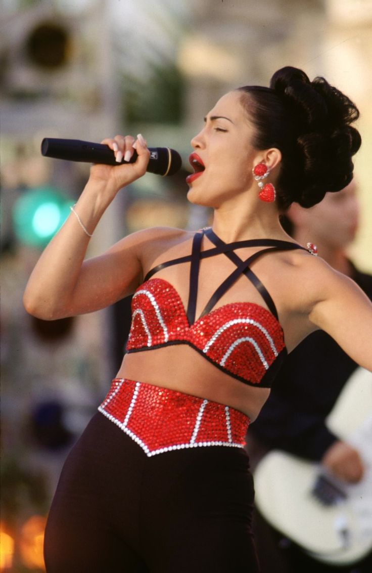 """Abraham Quintanilla: """"You were out there wearing a bra!"""" Selena Quintanilla: """"It's not a bra!"""" Abraham Quintanilla: """"It's a bra with little sprinkly things on it!"""""""