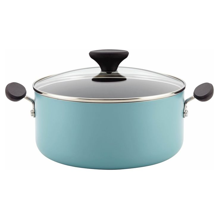 Farberware Reliance Aluminum Nonstick 5 Quart Covered Dutch Oven - Aqua (Blue)