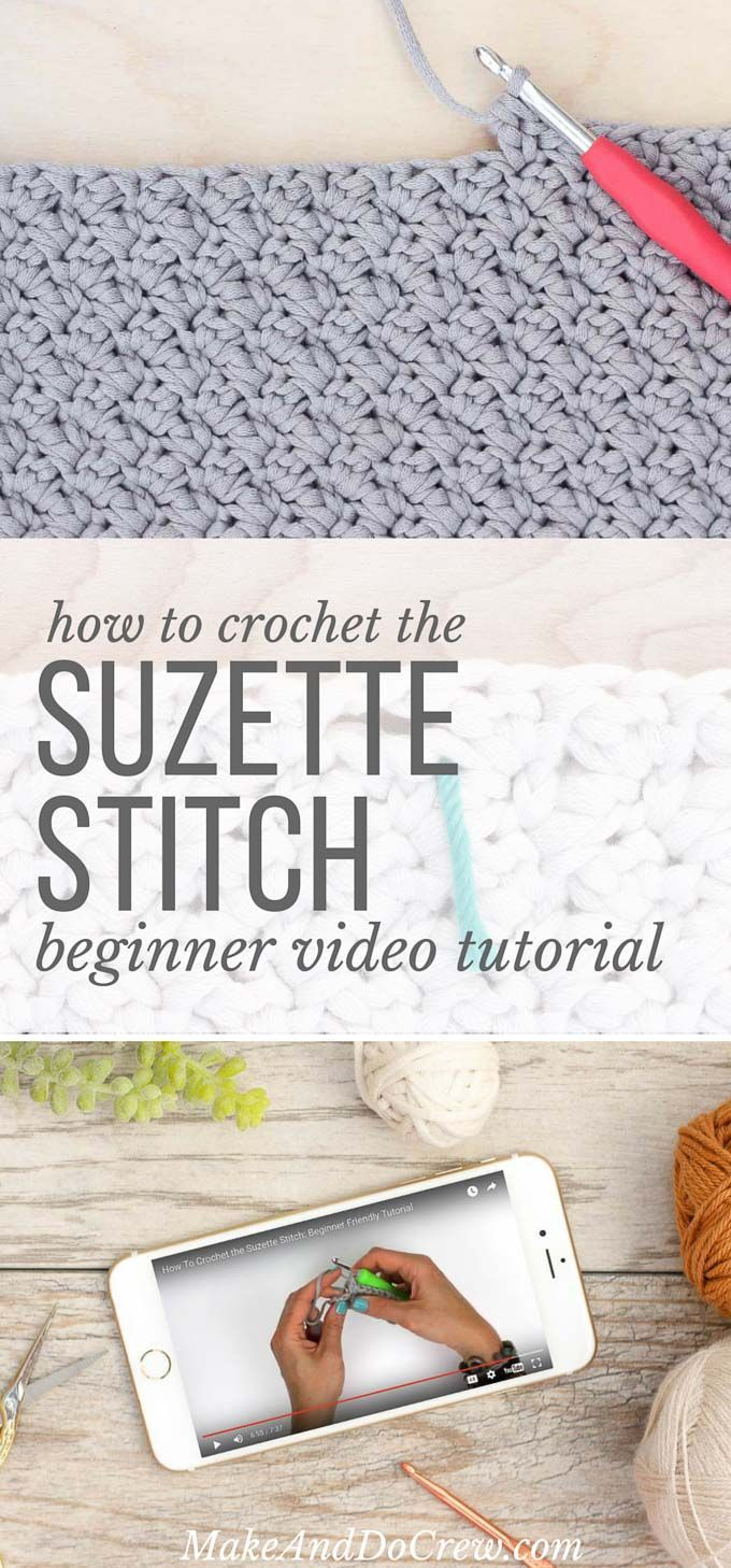This beginner-friendly video tutorial shows you how to crochet the Suzette stitch, which is used my my free crochet tote bag pattern. This stitch is very simple, but creates an interesting, sophisticated texture.