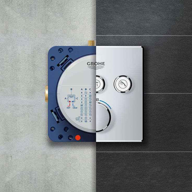The Innovative GROHE SmartControl Technology Offers Spray Selection And  Volume Adjustment In One Shower Control System.